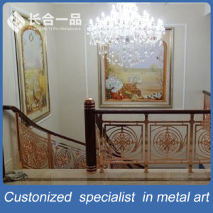 Customized Hollow out Rose Gold 304# Stainless Steel Stair Handrail pictures & photos