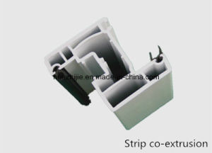 Casement Window Frame 60mm Series UPVC Profiles with Strip Co-Extrusion