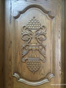 Single Leaf Antique Carved Wood Front Doors for Sale (XS2-007) pictures & photos