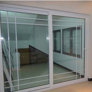 Awesome Factory Cheap Price Fiberglass Plastic UPVC Profile Frame Sliding Door With  Grill Inside