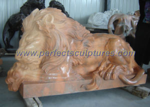 Marble Lion for Stone Statue Animal Sculpture (SY-D058) pictures & photos