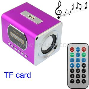 KMS-0207P, Kaidaer MP3 Player and Miniature Speaker, Support TF Card and USB Flash Disk