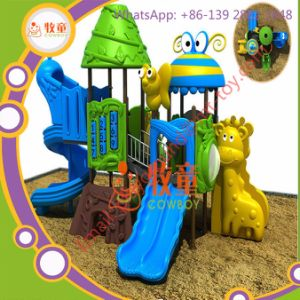 Children Outdoor Playground Playhouse with Slide Amusement Park pictures & photos