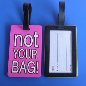 Not Your Bag Pink Travel Bag Tags PVC Luggage Tags pictures & photos