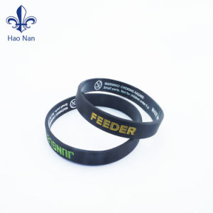 Custom Printed Beautiful Silicone Wristband/ Glow Rubber Bracelet pictures & photos