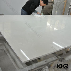 White Big Slab Quartz Stone for Counter Top pictures & photos
