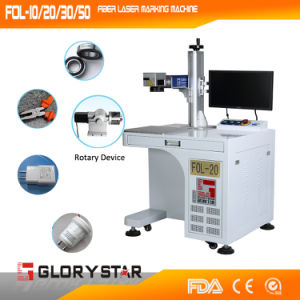 Fiber Metal Laser Marking Machine with Ce, ISO Certification Fol-10/20/30/50/80 pictures & photos