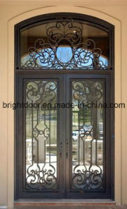 Wrought Iron Glass Interior Grill Door Designs pictures & photos
