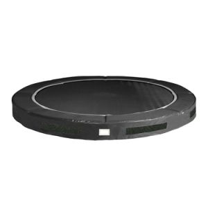 7FT Round Inground Grey Trampoline and Safety Enclosure