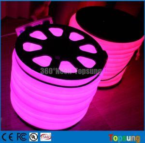 China 360 degree round purple led neon flex tube lights strip 6wm 360 degree round purple led neon flex tube lights strip 6wm 25mm aloadofball Images