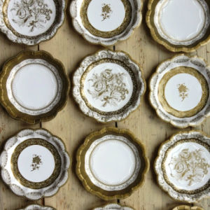 ... colorful old style lace paper plates for wedding party ... : wedding paper plates - pezcame.com