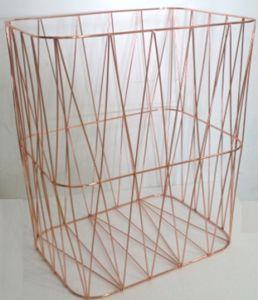 Wire Basket Laundry Basket Metal Basket Copper Basket Living Room Basket  Bedroom Basket Storage Basket Decorative