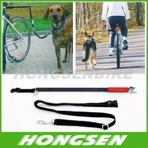 Dog Bike Leash Designed To Take One Or More Dogs With Bicycle Patented Product.