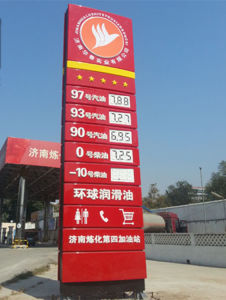 Gas Station Free Standing LED Price Pylon Sign Toem pictures & photos