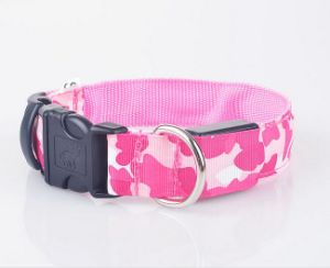 Wholesale Adjustable Nylon LED Flashing Dog Collar for Christmas pictures & photos