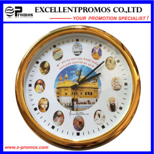High Quality Custom Logo Printing Round Plastic Wall Clock (Item23) pictures & photos