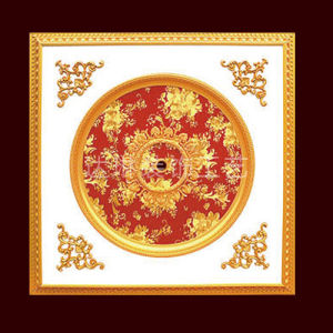 1.2*1.2 Meter PS Artistic Luxury Ceiling Decoration for Living Room