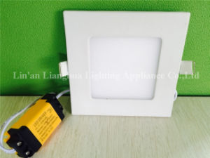 Home Use Energy Saving 4W Thin Square Shape LED Panel pictures & photos
