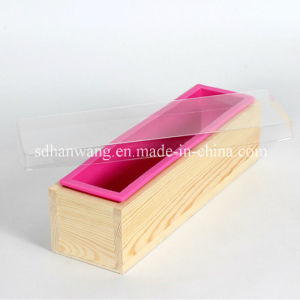 D0019 Nicole Wooden Soap Mold with Silicone Liner DIY Loaf Swirl Soap Mold Tool