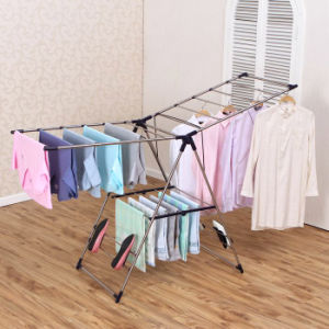 Stainless Steel Foldable Wing-Style Multi-Purpose Cloth Drying Rack pictures & photos