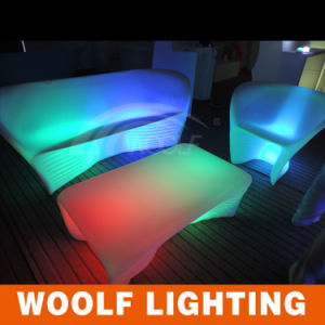 Outdoor Glowing LED Lighting Park Garden Sofa Bench