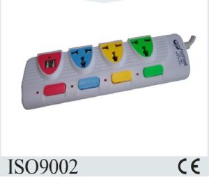 Factory Price Colorful Design Multi Socket with Dual USB pictures & photos