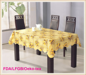 Dining PVC Table Cloths with Nonwoven Backing pictures & photos