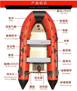 Inflotable Boat 1-14 Persons Alminum Alloy Floor pictures & photos