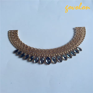New Arrival Fashion Alloy Neckline with Rhinestone pictures & photos