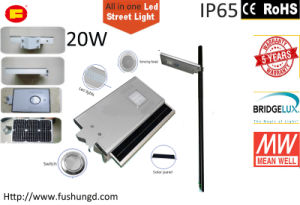 20W Integrated Solar LED Street Light with Road