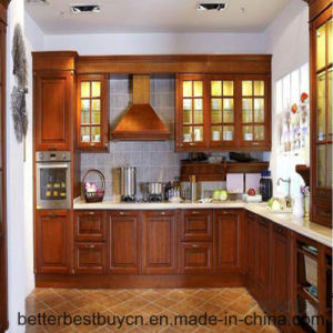 2016 Best Price High Quality Solid Wooden Kitchen Cabinet pictures & photos