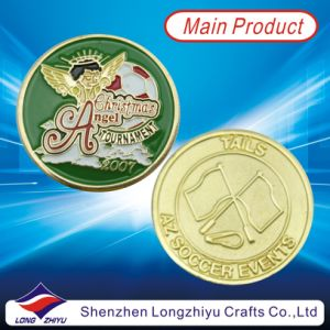 Custom Metal Gold Colored Replica Coin Christmas Angel Coin (LZY1300054) pictures & photos