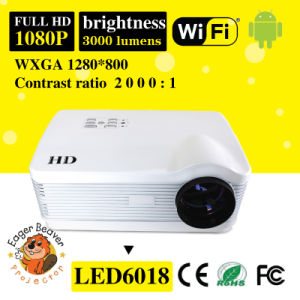 180W LED, 20000hours Life 60-200 Inch Home Theartre Projector