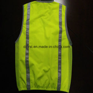 Fashion Safety Vest with Refleective Tape 100%Polyester Trico Fabric pictures & photos