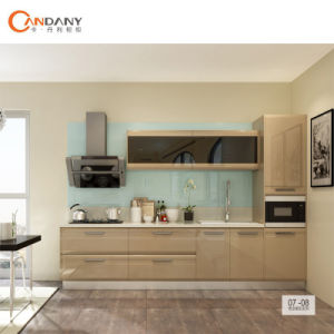 High Quality High Glossy Solid Wood Kitchen Cabinet Furniture