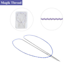 Polydioxanone Surgical Suture Twin Thread Double Needle Thread Lifting for  Suture Lifting