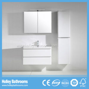 High Gloss Painting Bathroom Sanitary Ware with LED Lamp and Side Cabinet (BF380D)