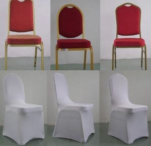 White Color Polyester Spandex Banquet Wedding Party Chair Covers (DPF107123) pictures & photos
