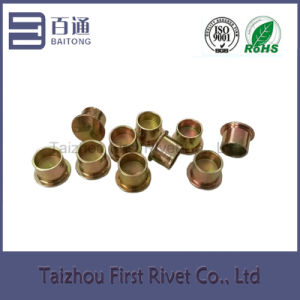9.4X10mm Zinc Plated Flat Head Semi Tubular Steel Clutch Rivet