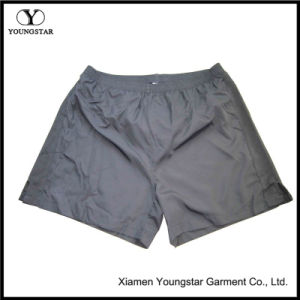 Mens Black Polyester Knit Gym Athletic Shorts Pants pictures & photos