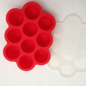 Solid 10compartment Snacks Box Silicone Food Storage Container with Lid pictures & photos