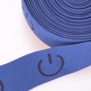 Eco-Friendly White Polyester/Nylon/Cotton Strap Elastic with Fasteners pictures & photos