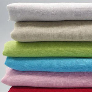 100% Cotton Ramie Look Fabric for Garment