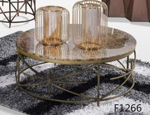 Metal Leg Round Coffee Table with Marble Top pictures & photos