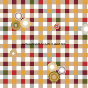 100%Polyester Circle Plaid Pigment&Disperse Printed Fabric for Bedding Set