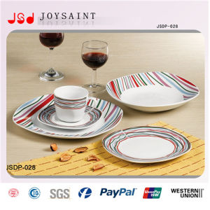 China Factory New Design Ceramic Dinnersets Dessert Plates