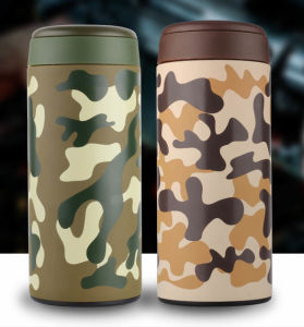 2017 New Product Outerdoor Stainless Steel Camouflage Bullet Warm Cup pictures & photos