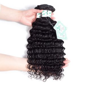 100% Virgin Remy Hair Extension Brazilian Human Hair Deep Wave