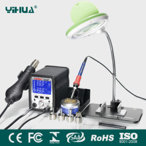 Yihua 995D+ Hot Air SMD Rework Soldering Station with Magnifier Lamp with Bracket Plate + Small Electronic Board Fixture pictures & photos