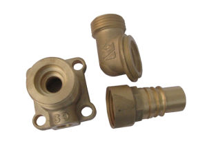Machining Brass Copper Forging Auto Parts Fuel Pipe Fitting Nozzle pictures & photos